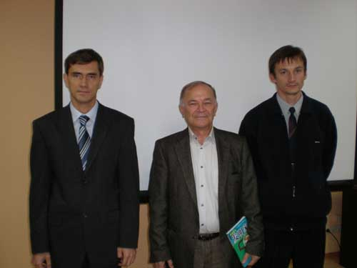 Mr. Salamatov with his followers (O.Kraev and G.Grishko).